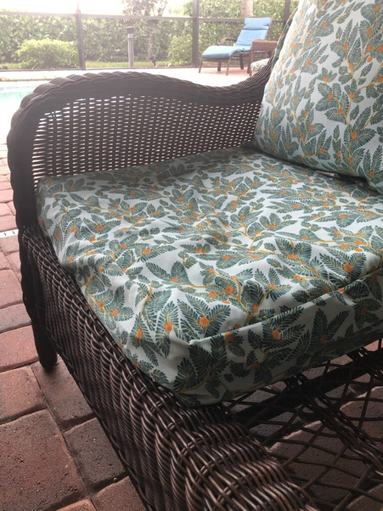 Outdoor Chair Cushions Replacing The Insert Not The Whole Cushion